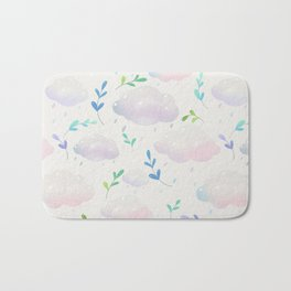 April clouds Bath Mat