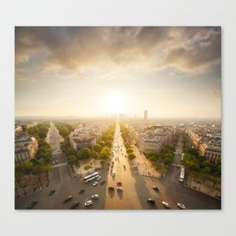Champs Elysees From the Top Canvas Print