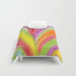 painted abstract Comforters
