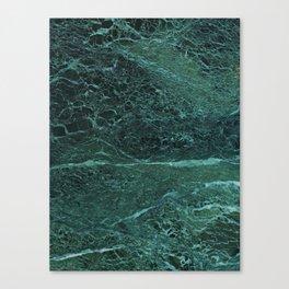 Dark Green Marble Texture Canvas Print
