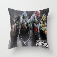 ninja turtles Throw Pillows featuring ninja turtles  , ninja turtles  games, ninja turtles  blanket, ninja turtles  duvet cover by ira gora