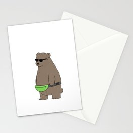 Cool Fanny Pack Bro Stationery Cards