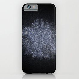 Silver Shiny powder explosion iPhone Case
