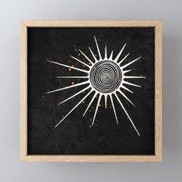 Sunrays and Swirls Inktober :: I Feel An Urgency Framed Mini Art Print
