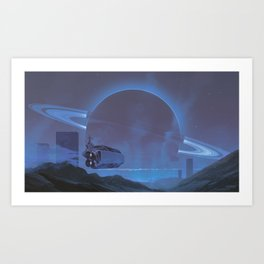 Silver sunset Art Print