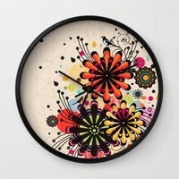 blossom Wall Clocks featuring Blossom by Kakel
