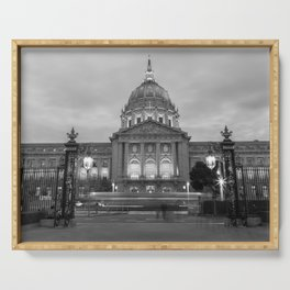 San Francisco City Hall BW Serving Tray