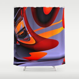 get into the flow Shower Curtain