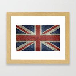 England's Union Jack, Dark Vintage 3:5 scale Framed Art Print
