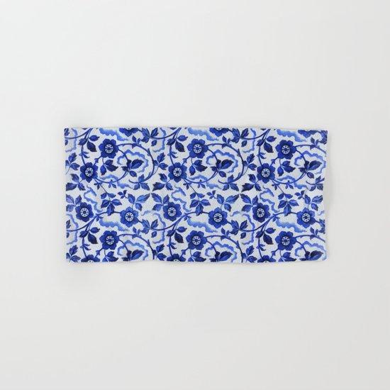 Azulejos blue floral pattern Hand & Bath Towel