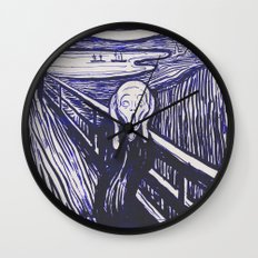 The Scream's Haze (dark blue) Wall Clock