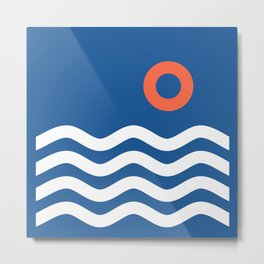 Nautical 03 Seascape Metal Print