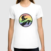snowboarding T-shirts featuring snowboarding 2 by Paul Simms
