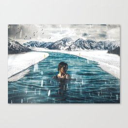 Cold Water by GEN Z Canvas Print