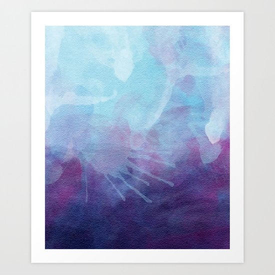 Blue Watercolor I Art Print