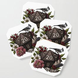 Druid Class D20 - Tabletop Gaming Dice Coaster