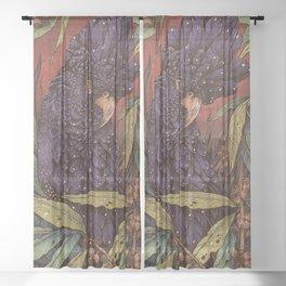 Black Cockatoo Sheer Curtain