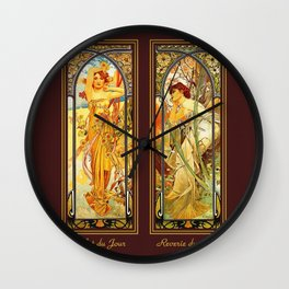 Vintage Art Nouveau - Alphonse Mucha Wall Clock