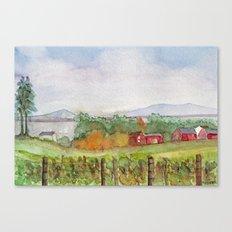 Snow Farm Winery Canvas Print
