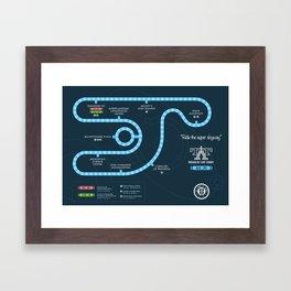 Tomorrowland Transit Authority Map Framed Art Print