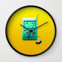 bmo Wall Clocks featuring BMO by Karolis Butenas