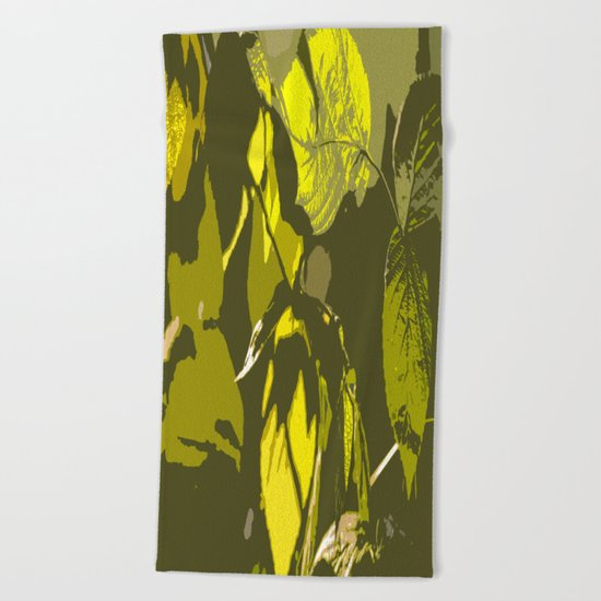 Autumn leaves bathing in sunlight Beach Towel