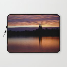 Sunset Reflection At The Lichfield Cathedral Laptop Sleeve