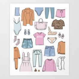DREAM CLOSET Art Print
