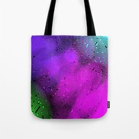 bubbles Tote Bags featuring Bubbles by Abstract Designs
