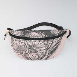Cactus Rose - Blush Pink and Black Fanny Pack