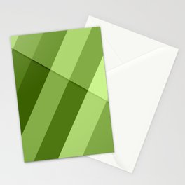 Greenery modern geometric lines Stationery Cards