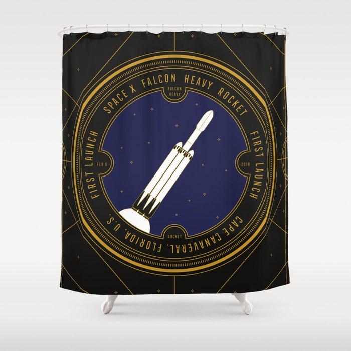 Falcon Heavy Shower Curtain