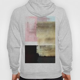 Minimal Abstract Soft Pink Landscape with Gold Hoody