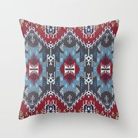 ethnic Throw Pillows featuring Ethnic  by Judy Csotsits
