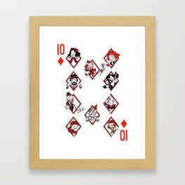 Sawdust Deck: The 10 of Diamonds Framed Art Print