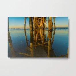 Mirror Under the Pier Metal Print