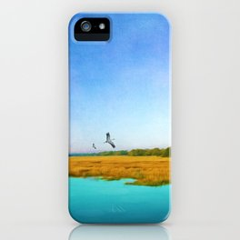 Golden Marshes St. Simons Island iPhone Case