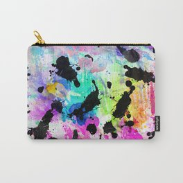 Colorful hand painted watercolor splatters pattern Carry-All Pouch