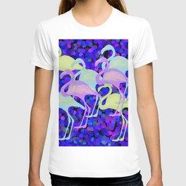 Colorful Flamingos D T-shirt