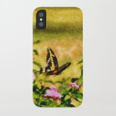 Three Giant Swallowtails - Monet Style iPhone X Slim Case