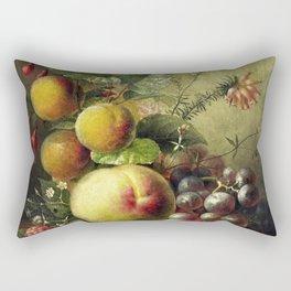 Still Life of a Fruit (1830-1862) by Willem Hekking Rectangular Pillow