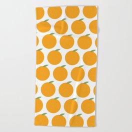 Syracuse New York Orange Beach Towel