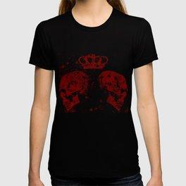 Blood Queendom (spray paint graffiti art, crown with skulls) T-shirt
