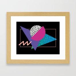 Memphis pattern 39 - 80s / 90s Retro Framed Art Print