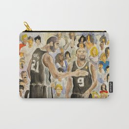 Tim Duncan & Tony Parker_Pro basketball players Carry-All Pouch