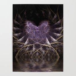 Purple Love Web Fractals Poster