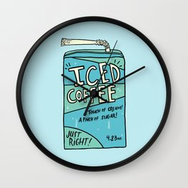 Iced Coffee Juicebox Wall Clock