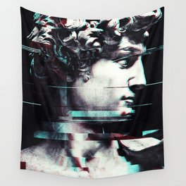 Abstract fractions of David Wall Tapestry