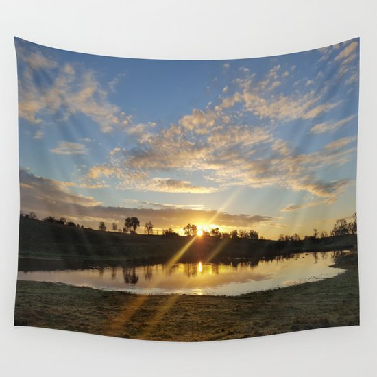 Inbetween Country and Paradise Wall Tapestry