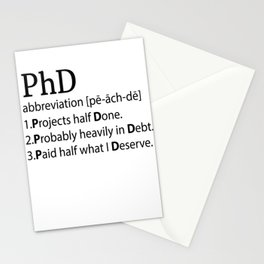 Professor Doctor PhD Philosophy titles gift Stationery Cards